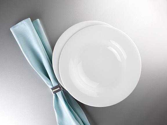 Savoy Dekor weiß uni Gourmeteller rund tief