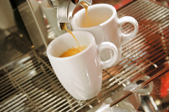Meran Dekor weiß uni Kaffee