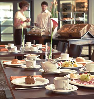 Luxor fine cream Dekor uni Frühstück