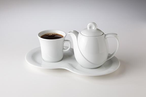 Laguna Dekor weiss uni 00003 Kaffee