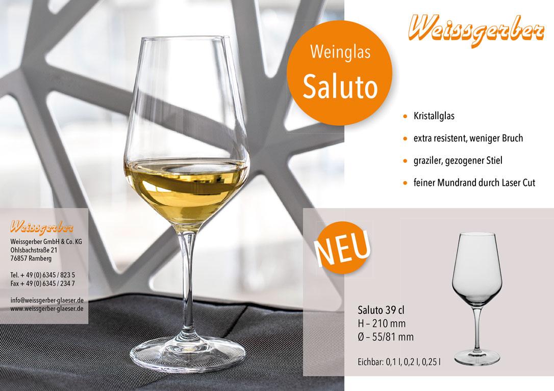 Weinglas Saluto